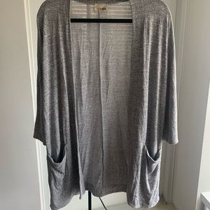 Grey cardigan from Aritzia